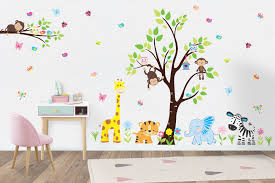 Wall Decals Nursery Safari Animal Stickers Jungle Animal Decals Nurserydecals4you