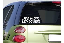 I Love Someone With Diabetes Sticker 8 Awareness Blood Sugar Strips Test Car Sticker Wish