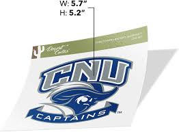 Amazon Com Christopher Newport University Cnu Captains Ncaa Vinyl Decal Laptop Water Bottle Car Scrapbook Sticker 007 Arts Crafts Sewing