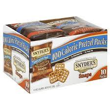 100 calorie pack pretzel snaps 10 ct