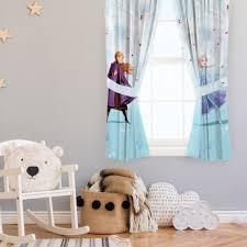 Disney Frozen 2 Kids Bedroom Curtain Panel Set Set Of 2 63 Inch L Walmart Com Kids Room Curtains Frozen Themed Bedroom Frozen Theme Room
