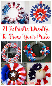 21 diy patriotic wreaths to show your