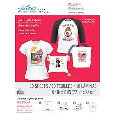 Jolee S Boutique Iron On Transfer Paper For White Fabric