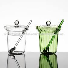 china borosilicate glass sugar salt jar
