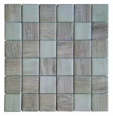 recycled glass wood look squares beige