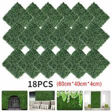 18pcs Artificial Boxwood Panels Topiary Hedge Plants Artificial Greenery Fence Panels For Greenery Walls Garden Privacy Screen B Aliexpress