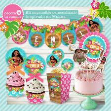 Kit Imprimible Moana Candybar Cumpleanos Invitaciones Deco 430
