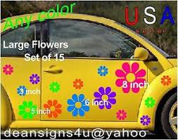 Large 15 Flower Tropical Set Vw Daisy Sticker Decal Truck Car Boat Bonus Usa Ebay