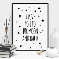 Nordic Quote Canvas Star Art Print Poster Kids Room Wall Picture Living Room Painting Poster Home Decor No Frame Wish