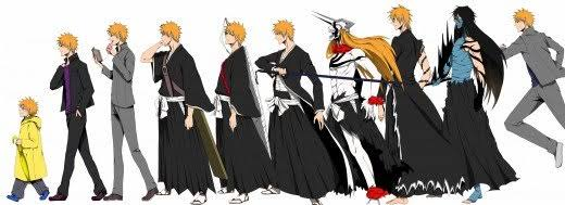 """Image result for all of ichigos forms"""""""