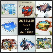 Kaimao 3d Vivid Blue Sea Beach Floor Stickers Decal Skirting Line Baseboard Wave For Sale Online Ebay