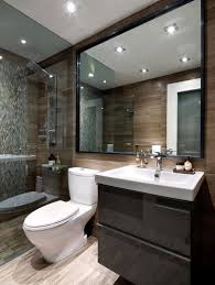 big mirror modern bathroom interior