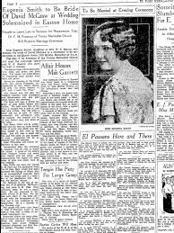 Eugenia Smith to marry David McGraw on July 18, 1931 - Newspapers.com