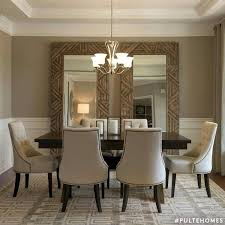 large mirrors in dining room nice idea