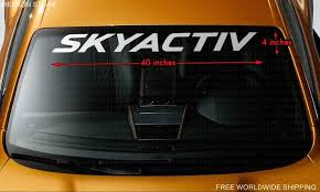 Skyactiv Mazda Windshield Banner Vinyl Decal Sticker Logo Motorsports Development
