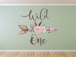 Boho Wall Decals Wild One Wall Decal Boho Feathers Arrow Wall Deca Walls2lifedecals