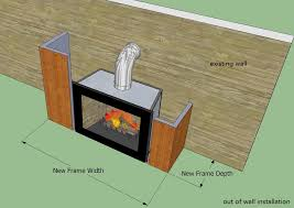 wood burning fireplace easy e line
