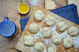 healthy dumplings made with olive oil