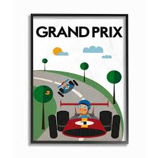 The Kids Room By Stupell 16 In X 20 In Green Orange Blue And Red Grand Prix Minimal Mod Race Cars By Tomas Design Framed Wall Art Brp 2326 Fr 16x20 The Home Depot