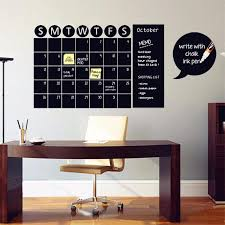 Chalkboard Calendar Wall Decal The Decal House