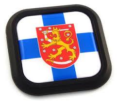 Finland Flag Square Black Rim Emblem Car 3d Decal Badge Hood Bumper Sticker 2 Ebay