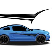 Viper Automotive Vinyl Graphics Universal Fit Decal Stripes Kit Pictured With Ford Mustang Vinylgraphicspro Vinyl Graphics Stripes Decal Kits