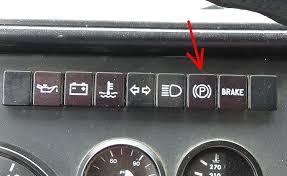 dashboard parking brake warning light