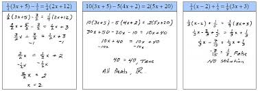linear equations and inequalities