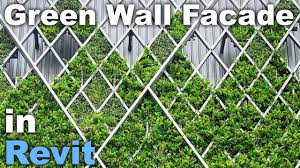 Green Wall Facade In Revit Tutorial Family Download Link Youtube