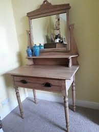 antique oak dressing table with mirror
