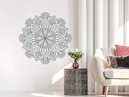 Giant Mandala Wall Decal Amazon Cheap Vinyl Art Half Hanging Sticker Uk Colorful Vamosrayos