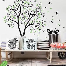 Tree Wall Decal Birds Squirrels Mural Sticker Nursery Decor Kr050 Studioquee On Artfire