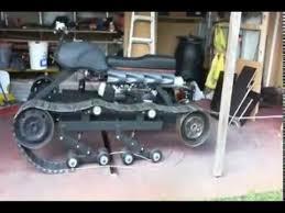 tank installing the drive wheels