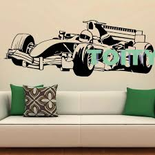 F1 Bolid Bmw Large Bedroom Kids Sticker Wall Art Decal
