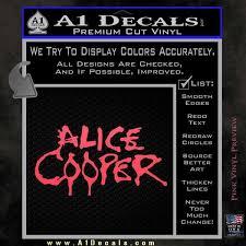 Alice Cooper Decal Sticker Tx1 A1 Decals