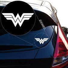 Wonder Woman Decal Sticker For Car Window Laptop Motorcycle Walls Mirror Wish