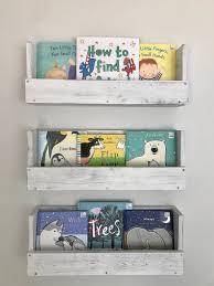 Set Of 3 White Distressed Wood Book Shelf Nursery Decor Wood Etsy