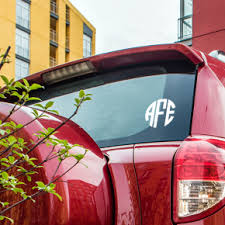Monogram Decal Stickers For Your Car 904 Custom