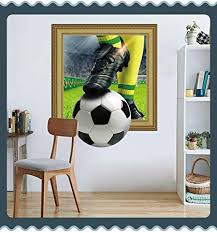 3d Removable Wall Sticker Fifa International Soccer Ball World Cup Nursery Decal Brazilian Team Nfl Football Wallpaper Baby Mural Home Window Family Art Removable Decor Home Club Vinyl Soccer Amazon Com
