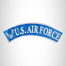 U S Air Force Sew On Top Rocker Patch For Biker Vest Jacket Sturgis Midwest Inc