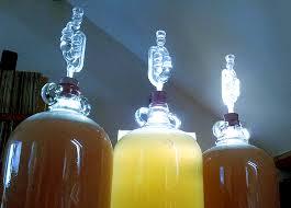 air lock on a wine fermentation
