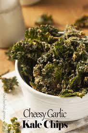 cheesy garlic dehydrated kale chips