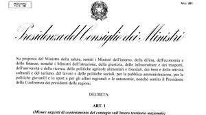 Coronavirus ultime notizie 10 marzo, testo DPCM: l'Italia è zona ...