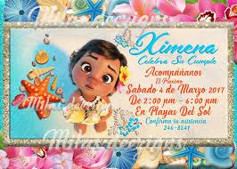 Invitacion De Moana Digital Imprimible Invitacion Digital El Pago