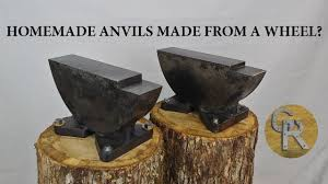 homemade anvil made from a wheel you