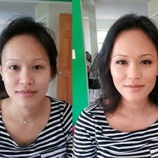 before and after natural makeup