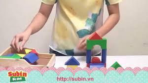 Đồ chơi xếp hình phát triển trí tuệ cho trẻ em – Subin.vn - YouTube