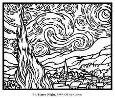 16 Best Colouring Pages Images Coloring Pages Vincent Van Gogh