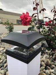 6x6 Solar Post Cap Lights Black 2 Smd Led Fits Actual 6x6 Posts