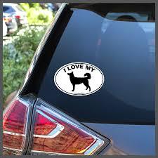 I Love My Siberian Husky Dog Breed Decal Or Car Magnet